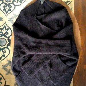 BCBG Maxazria Cozy Wrap - Black with Pockets